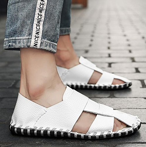 Size Men's Casual Shoes 39 Breathable Black Beach Color White Outdoor HUAN Summer Sandals Bottom Sandals White Soft xCwzZw1qE