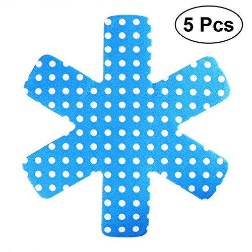 Zoomy Far: 5pcs Pot & amp; Pan Schützer Grau Drucken Premium-Divider-Pads zu verhindern Separate Verkratzen und schützen Oberflächen für Kochgeschirr: Blau