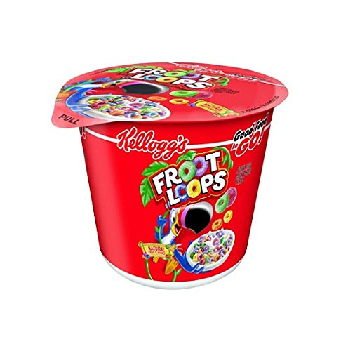 Kellogg's Fruit Loops Cereal in a Cup - 2 oz. Cup - 12 ct (SGS96)