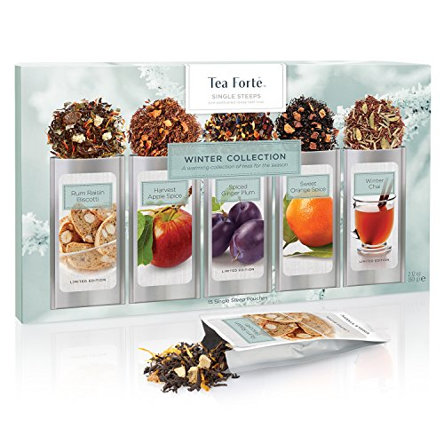 Tea Forté WARMING JOY Single Steeps Loose Leaf Tea Sampler