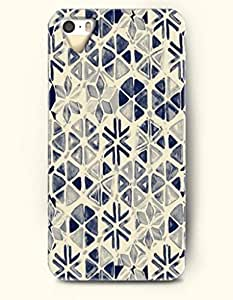 Phone Case For iPhone 5 5S Retro Dark Blue Floral Pattern - Hard Back Plastic Case / Geometric Pattern / SevenArc ...