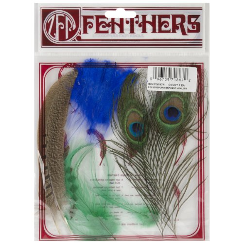 Zucker Feather Products Peacock Eyes Decorative Feather, Pheasant Tails/Hackles Mix (Peacock Eye Mask)