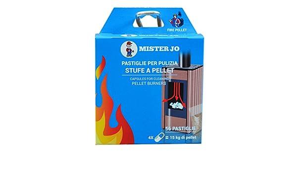 Geko Fire Chimneys - Pastillas de Mantenimiento para Limpieza de Estufas de Pellet, 56 Piezas (para 2 semanas), Color, Talla única: Amazon.es: Hogar