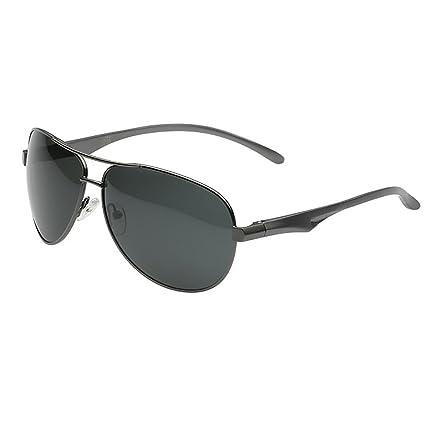 Aviador piloto polarizado clásico protección UV400 Gafas de Sol de conducción con Marco de Metal de