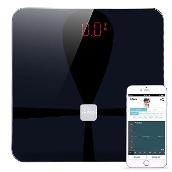 Ikeepi Basculas de Baño Grasa Corporal con Analisis Composición Corporal, Smart Scale con App (