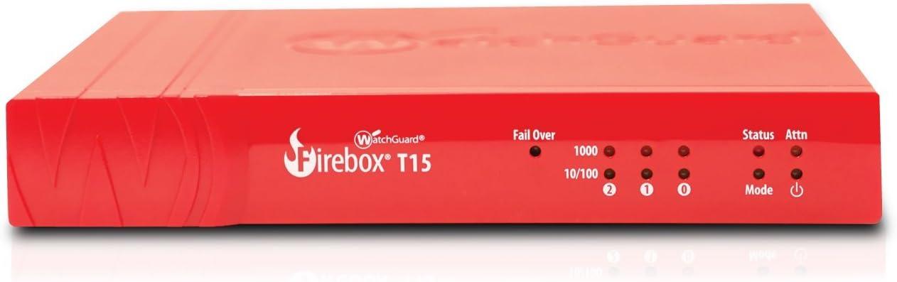WatchGuard   WGT15031-WW   WatchGuard Firebox T15 with 1-yr Basic Security Suite (WW)
