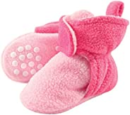 Luvable Friends Baby-Girls Cozy Fleece Booties with Non Skid Bottom Slipper Sock