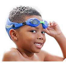 Frogglez NEW Comfort Kids Swimming Goggles with Custom Fit Neoprene Straps, Unisex