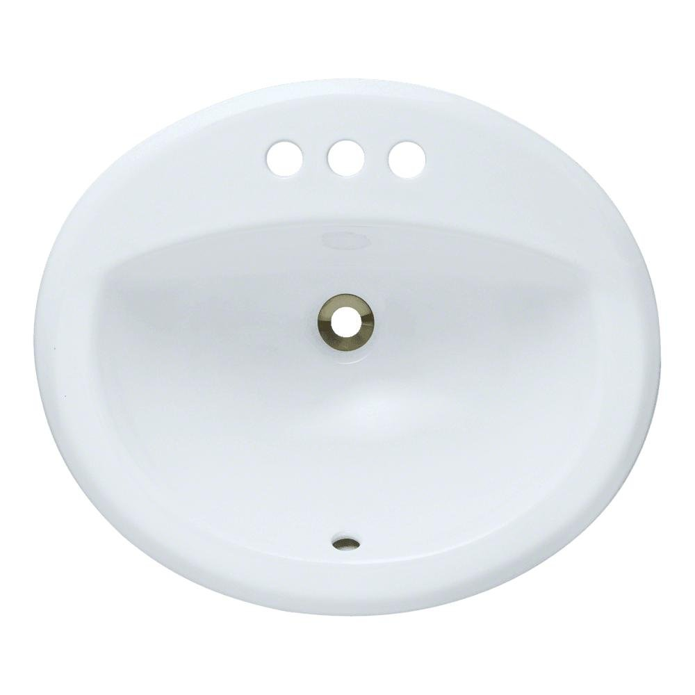 MR Direct o2018-w Porcelain Above Counter Oval bathroom sink, 20 x 18 x 8.5 inches, White