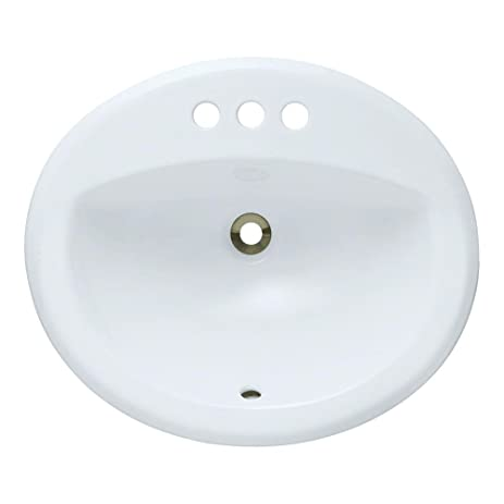 O2018 W White Overmount Porcelain Lavatory Sink