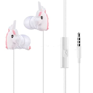 XHKCYOEJ Auriculares Intrauditivos Con Cordón/ Alambre/Auriculares/Unicornio/Arco Iris/Dibujos