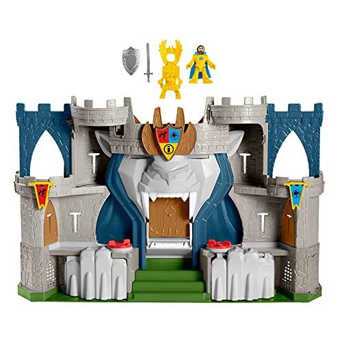 Imaginext coffret Château Fort Aventure du Lion avec une figurine de roi, jouet pour enfant de 3 à 8ans, HCG45