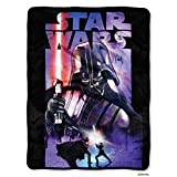 Lucas Star Wars, Darth Night Micro Raschel Throw Blanket, 46'' x 60''