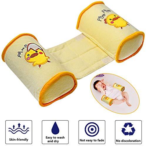 Baby Anti Roll Pillow, Baby Sleeper Pillow Sleep Positioner Crib Bumper Nursing Pillow Anti-Rollover Memory Foam Cute Cartoon Anti-roll Sleeper Pillow Sleep Positioner Insurance (Yellow)