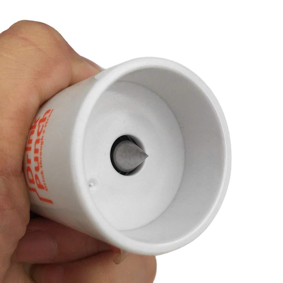 LouiseEvel215 Herramientas de abridor de Botellas Drink Punch Mini Taladro de Agua Abrebotellas Tapa de la Botella Agujero Punch Opener para la Paja para la Fiesta Color Aleatorio