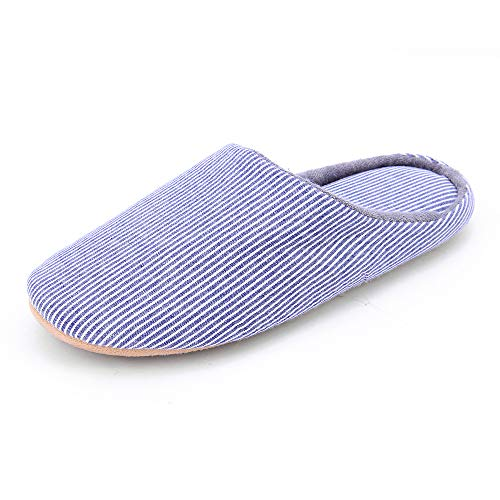 Slipper Casual WILLIAM Women Style Couple Japanese Bottom Indoor Slippers Dark Slippers Soft Blue Cotton amp;KATE qwpHt