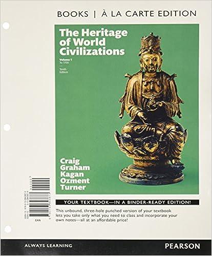 Amazon heritage of world civilizations the volume 1 books heritage of world civilizations the volume 1 books a la carte edition 10th edition 10th edition fandeluxe Images