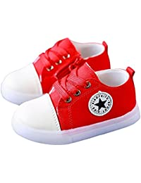 Kids LED Light Up Shoes Casual Canvas Shoes Sneakers for Boys Girls