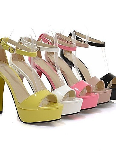 Women's Outdoor Beige Dress Stiletto amp; Black Slingback ShangYi Comfort Pink Black Shoes Heel Career Sandals Office Casual Yellow White dTnnBg0P