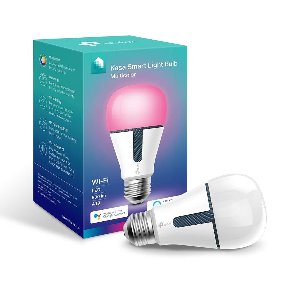 Kasa Smart WiFi Light Bulb, Multicolor by TP-Link – Smart LED Light Bulbs, Works with Alexa & Google (KL130)
