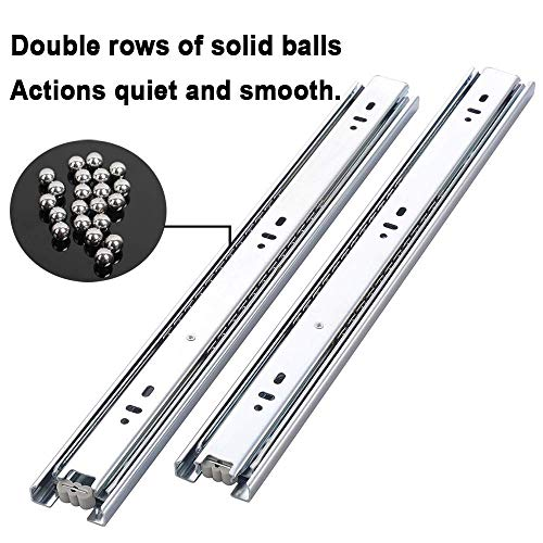 Cuaulans 10 Pair 22'' Full Extension Side Mount Ball Bearing Sliding Drawer Slides, Mounting Screws Included, Available in 10'', 12'', 14'', 16'', 18'', 20'' and 22'' Lengths by Cuaulans (Image #3)