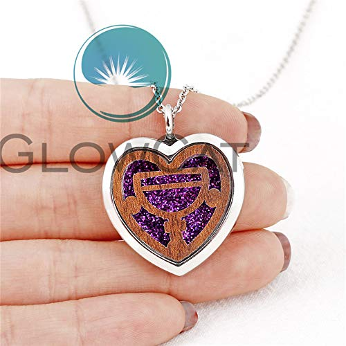 Wooden Pendant Necklaces | Heart Rose Animal Aroma Locket | Geometric Necklace (K1388 Trophy Cup)