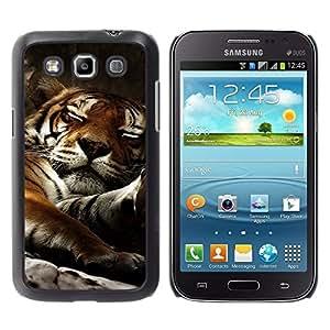 Be Good Phone Accessory // Dura Cáscara cubierta Protectora Caso Carcasa Funda de Protección para Samsung Galaxy Win I8550 I8552 Grand Quattro // Tiger Sleepy Big Cat Cute Animal Nat