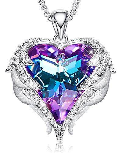 - CDE Necklaces for Women Embellished with crystals from Swarovski Pendant Necklace Heart Of Ocean Jewelry Gift for Mothers Day