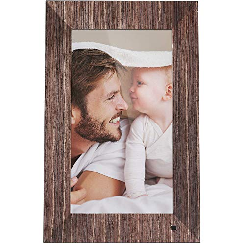 NIX Lux 13 Inch Digital Photo Frame X13B Wood - Wall-Mountable Digital Picture Frame with IPS Display, Motion Sensor, USB and SD Card Slots and Remote Control, 8 GB USB Stick Included ()