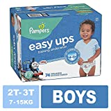 Pampers Easy Ups Pull On Disposable Training Diaper for Boys, Size 4 (2T-3T), Super Pack, 74 Count