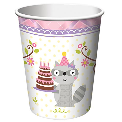 Creative Converting 8 Count Paper Cups, Happi Woodland Girl