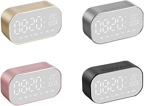 Altavoz Bluetooth con alarma dual, LED Digital despertador ...