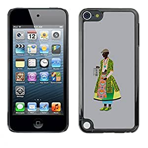 PC/Aluminum Funda Carcasa protectora para Apple iPod Touch 5 Middle Ages dressing / JUSTGO PHONE PROTECTOR