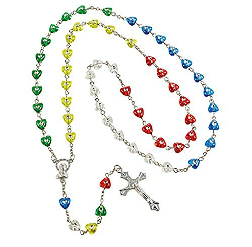 Value Priced Heart Shaped Mission Rosary b106 ()