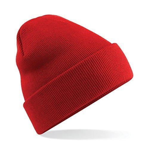 tacto estilo dobladillo nbsp;colores suave con de Bright al unisex skater 46 Red Gorro 0xqwSC5C
