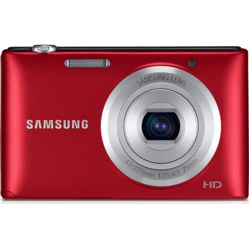 Samsung ST72 16.2 Mega Pixel Digital Camera with 3-Inch LCD Display (Red) For Sale