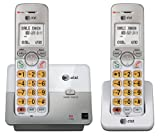 AT&T DECT 6.0 2 Cordless Phones with Caller ID, Handset Speakerphones, White