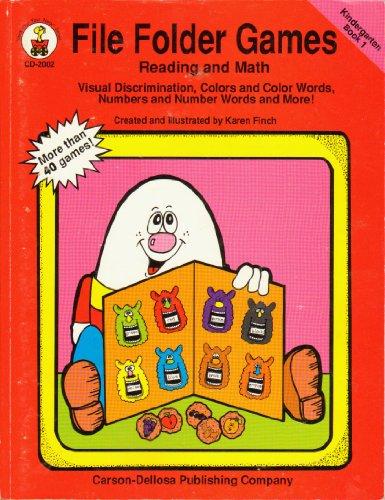 File Folder Games Reading and Math Kindergarten Book 1 (Carson Dellosa File Folder)