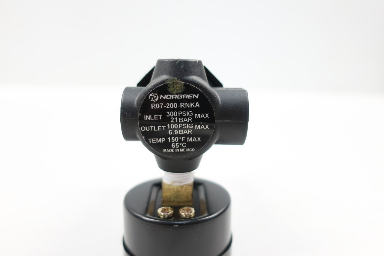 NORGREN R07-200-RNKA Pneumatic Regulator 300PSI 1//4IN D604794