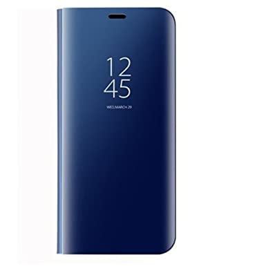 Qissy Carcasa Huawei P20 Pro Espejo Funda, Inteligente Espejo Enchapado Flip Funda Reflexión Brillante Ultra Fino Duro Anti-Scratch de para Huawei P20 ...