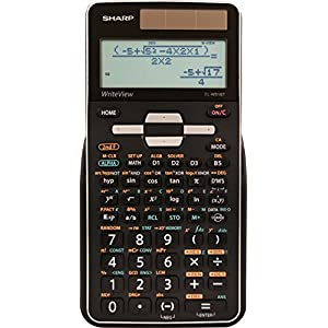 Sharp Calculators EL-W516TBSL Advanced Scientific Calculator with WriteView 4 Line Display & Solar Power