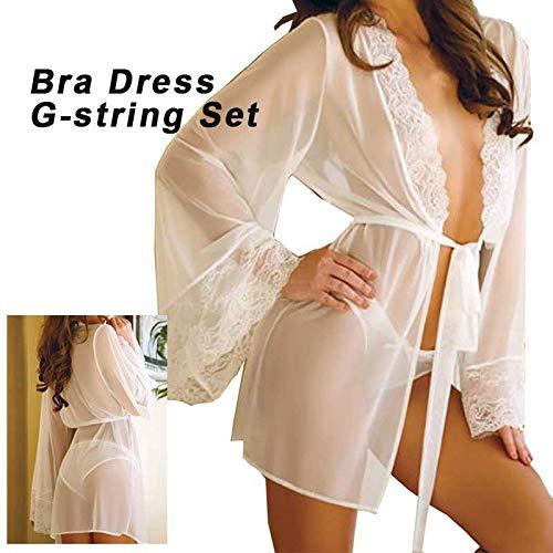 Vêtements en sous Nuit Dentelle Lingerie LianMengMVP de Robe Poupée Femme Blanc vêtements String xw86OYqf