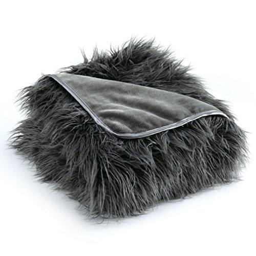 Nap Faux Mongolian Luxury Blanket by Brookstone