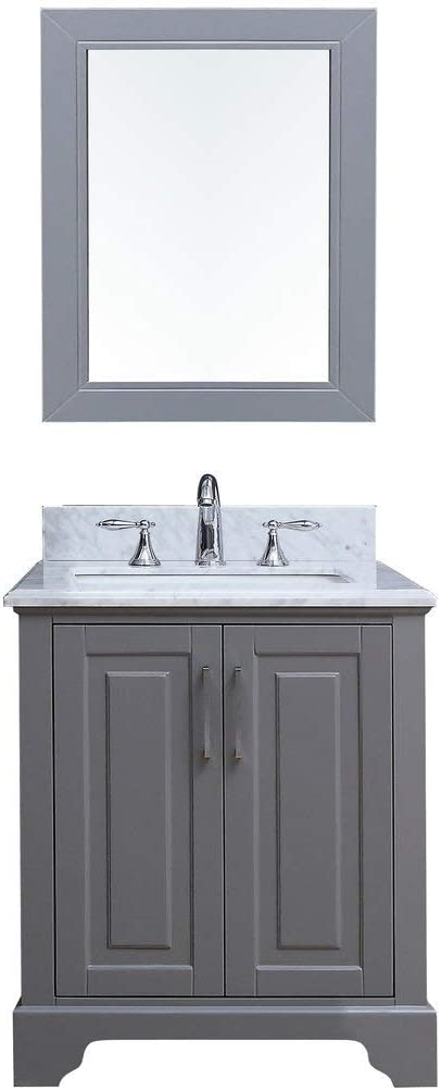 Amazon Com 30 Inch Belvedere Traditional Freestanding Gray