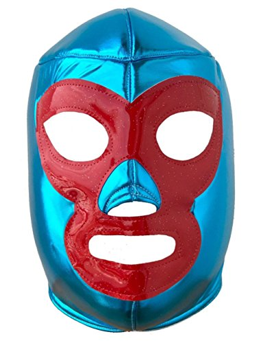 Del Mex Lycra Lucha Libre Adult Luchador Mexican Wrestling Mask Costume (Nacho -