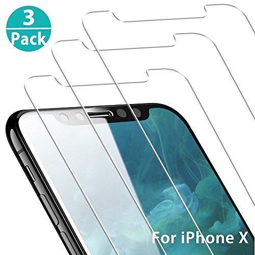 iPhone XS Screen Protector, iPhone X Screen Protector, 3 Pack Yoyamo Tempered Glass Screen Protector 3D Touch Compatible 0.26mm Screen Protection Case for iPhone X/XS