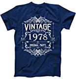 40th Birthday Vintage 1978 Mostly All Original Parts T-Shirt Navy 5XL