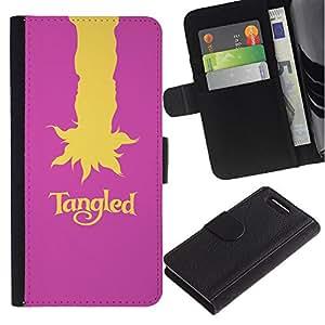 LECELL--Cuero de la tarjeta la carpeta del tirón Smartphone Slots Protección Holder For Sony Xperia Z3 Compact -- Enredado --