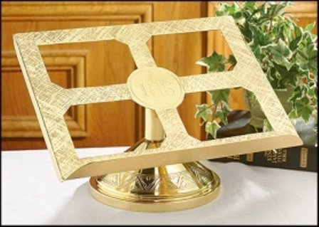 IHS Brass Missal Stand by Faithful Gifts