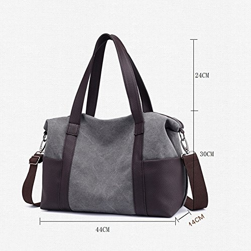 Large 10 canvas CJ portable bag capacity bag female Shoulder w8qPH8t